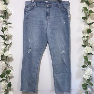 NWT Old Navy The Power Jean Straight Ankle 18 TALL